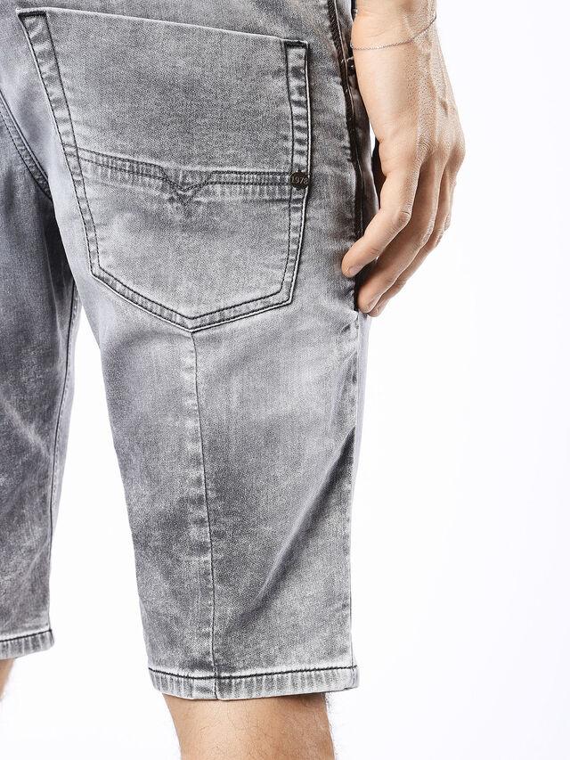 Diesel - KROSHORT JOGGJEANS, Grey Jeans - Shorts - Image 8