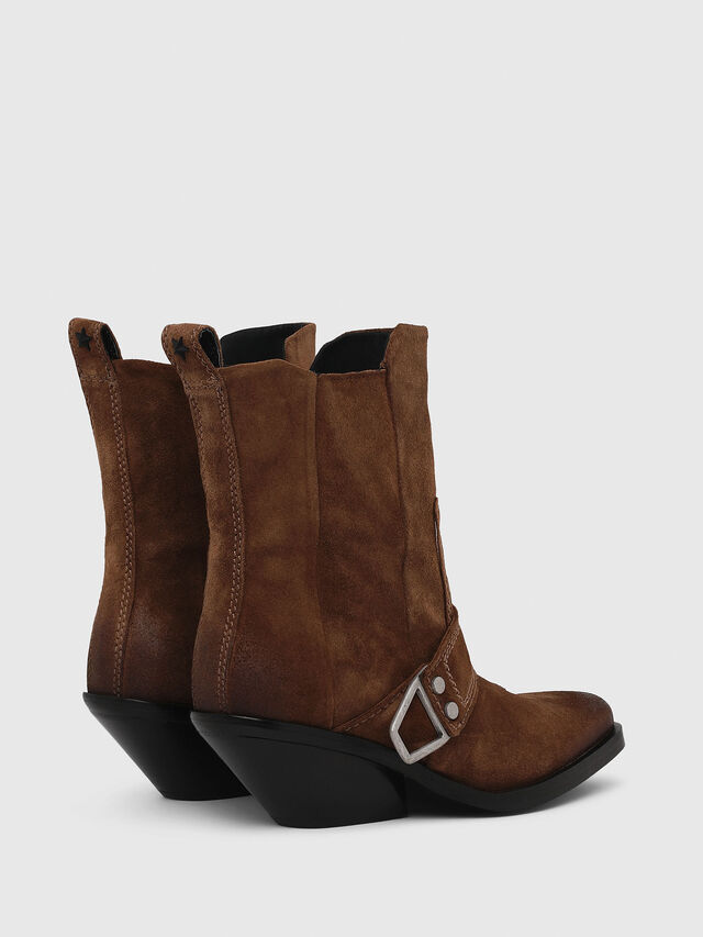 Diesel - D-GIUDECCA MA, Brown - Ankle Boots - Image 3