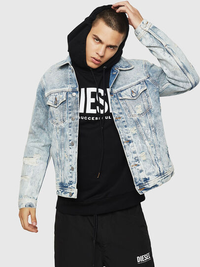 Diesel - NHILL, Light Blue - Denim Jackets - Image 1