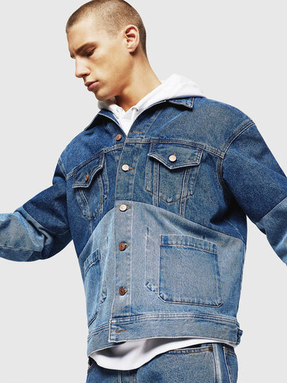 Diesel - D-PUF, Medium blue - Denim Jackets - Image 7