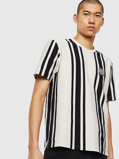Diesel - T-STRIP-J1, White/Black - T-Shirts - Image 1
