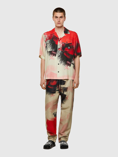 Diesel - S-WOLF-ALL, Red/White - Shirts - Image 4