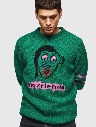Diesel - K-BOBBY, Dark Green - Knitwear - Image 1