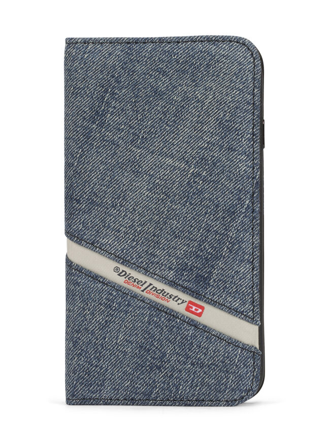 Diesel - DENIM IPHONE 8 PLUS/7 PLUS FOLIO, Blue Jeans - Flip covers - Image 1