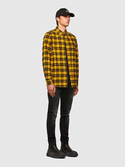 Diesel - S-MOI-CHK, Black/Yellow - Shirts - Image 5