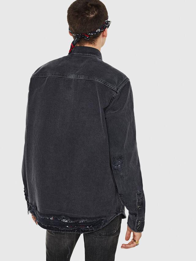 Diesel - D-ROOKE-L, Black/Grey - Denim Shirts - Image 2