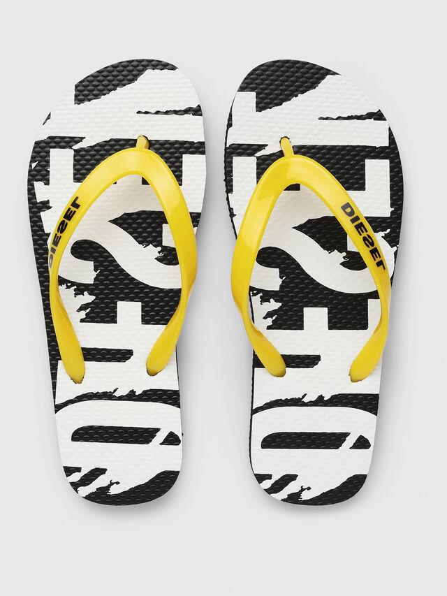 Diesel - FF 22 FLIPPER YO, Black/White - Footwear - Image 2
