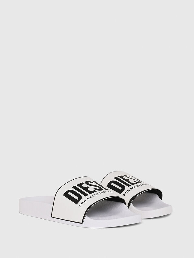 Diesel - SA-VALLA W, White/Black - Slippers - Image 2