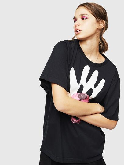 Diesel - T-JUSTINA, Black - T-Shirts - Image 1