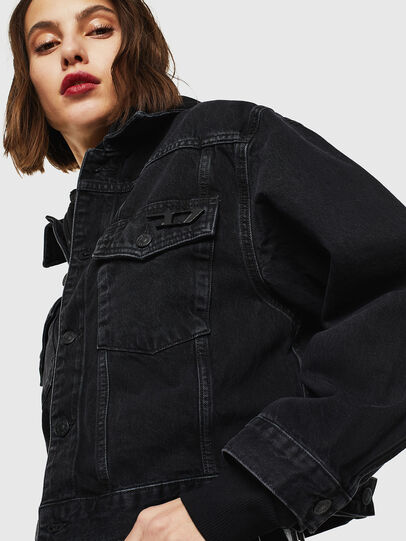 Diesel - DE-CATY, Black/Dark grey - Denim Jackets - Image 4