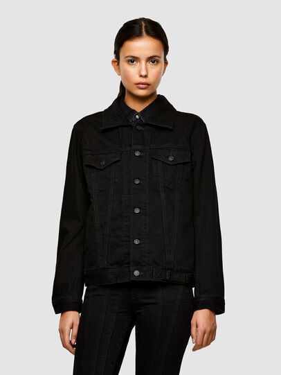 Diesel - NHILL-C1, Black - Denim Jackets - Image 2