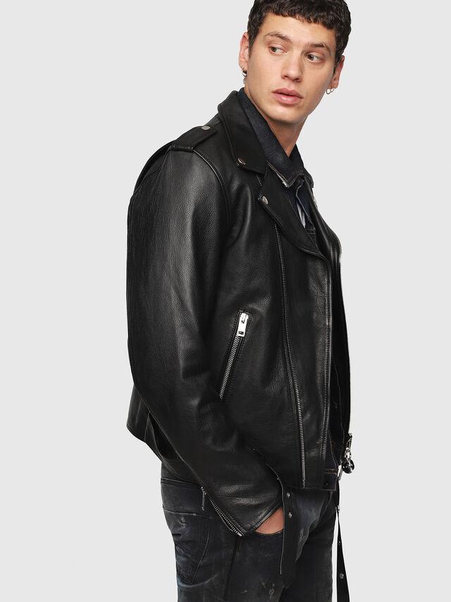 Diesel - CL-L-KIOV, Black Leather - Leather jackets - Image 3