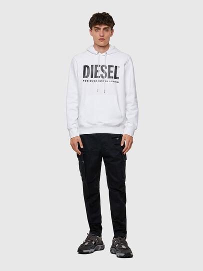 Diesel - S-GIRK-HOOD-ECOLOGO, White - Sweaters - Image 4