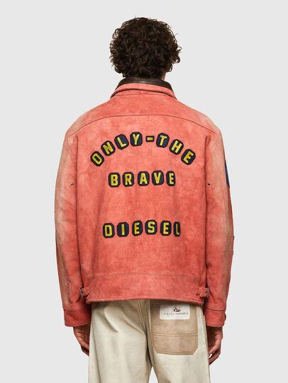 Diesel - DxD-3, Orange - Leather jackets - Image 4