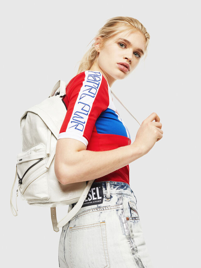 Diesel - LE-ZIPPER BACKPACK, White - Backpacks - Image 5