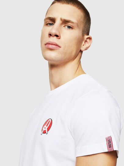 Diesel - LR-T-DIEGO-VIC, White - T-Shirts - Image 3