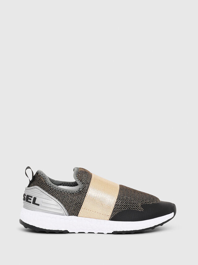 Diesel - SN SLIP ON 16 ELASTI, Black/Gold - Footwear - Image 1