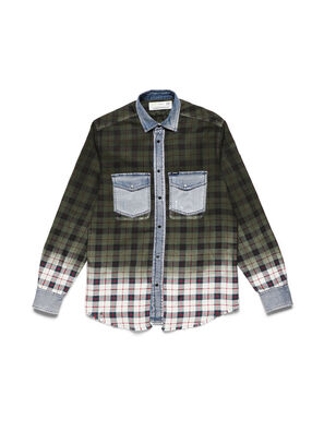 D-DEEPCHECK-B, Green - Denim Shirts