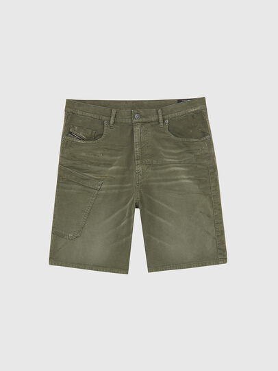 Diesel - D-AZERR-SHORT JOGGJEANS, Military Green - Shorts - Image 1