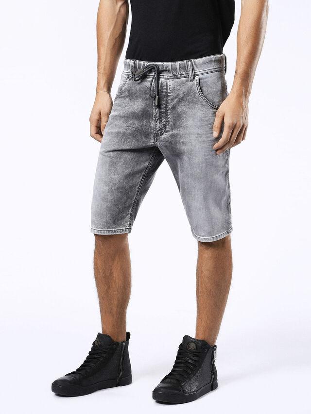 Diesel - KROSHORT JOGGJEANS, Grey Jeans - Shorts - Image 6