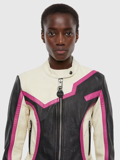 Diesel - L-JOBE, Black/White - Leather jackets - Image 3