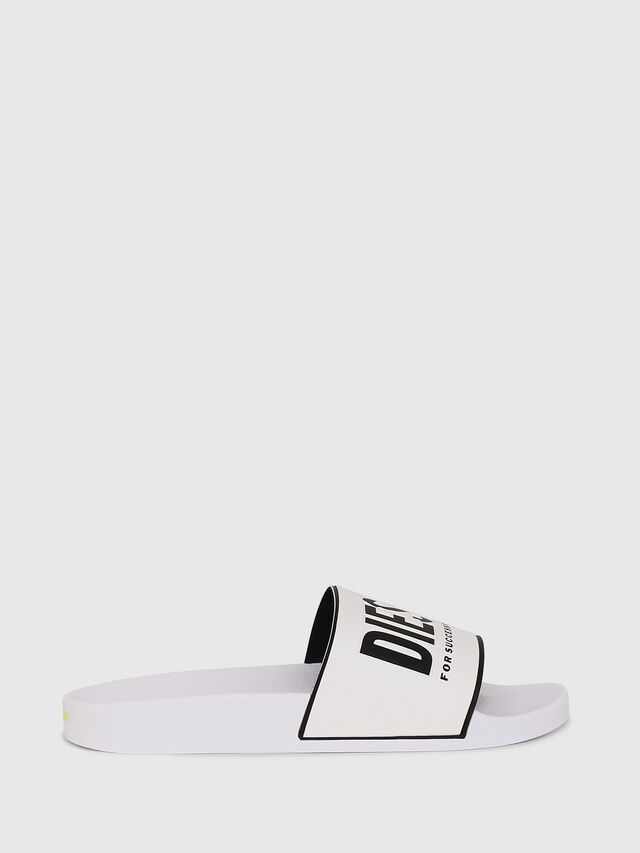 Diesel - SA-VALLA W, White/Black - Slippers - Image 1
