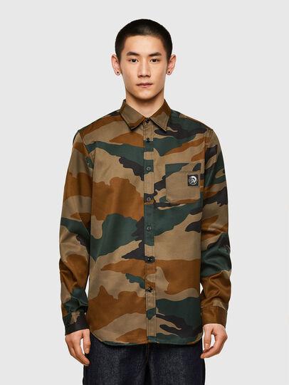 Diesel - S-MOI-CAMU, Brown - Shirts - Image 1