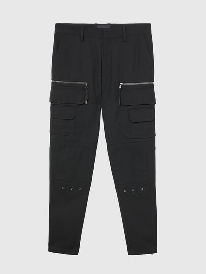 Diesel - P-CAR-ANT, Black - Pants - Image 1