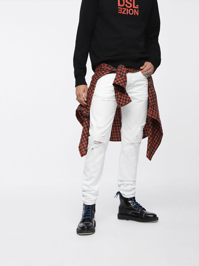 Diesel - Buster 0680K, White - Jeans - Image 1