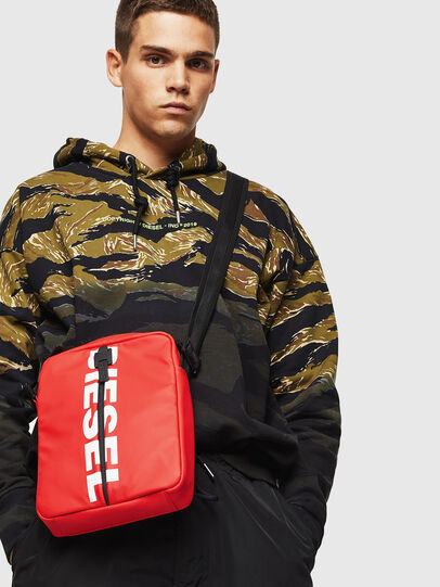 Diesel - F-BOLD SMALL CROSS, Red - Crossbody Bags - Image 6