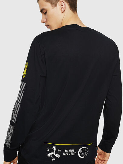 Diesel - T-JUST-LS-NEW, Black - T-Shirts - Image 2
