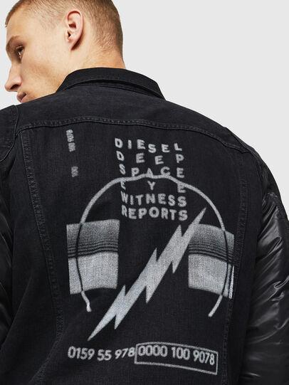 Diesel - D-BLIT, Black/Dark grey - Denim Jackets - Image 5