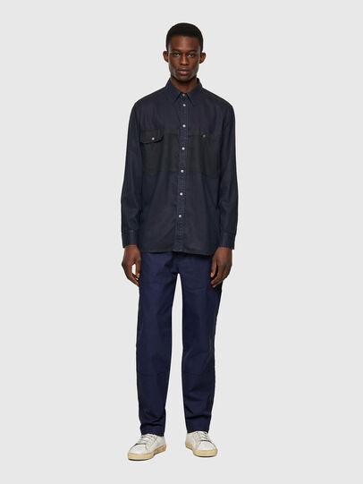 Diesel - D-MILLY-SP1, Dark Blue - Denim Shirts - Image 4