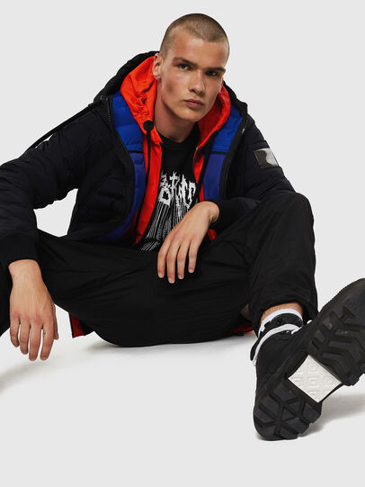 Diesel - W-OBLOSKY, Black - Winter Jackets - Image 7