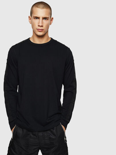 Diesel - T-JUST-LS-BX3, Black - T-Shirts - Image 1