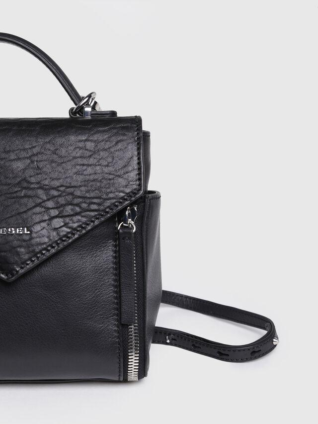 Diesel - LE-KIIMY II, Black Leather - Backpacks - Image 3