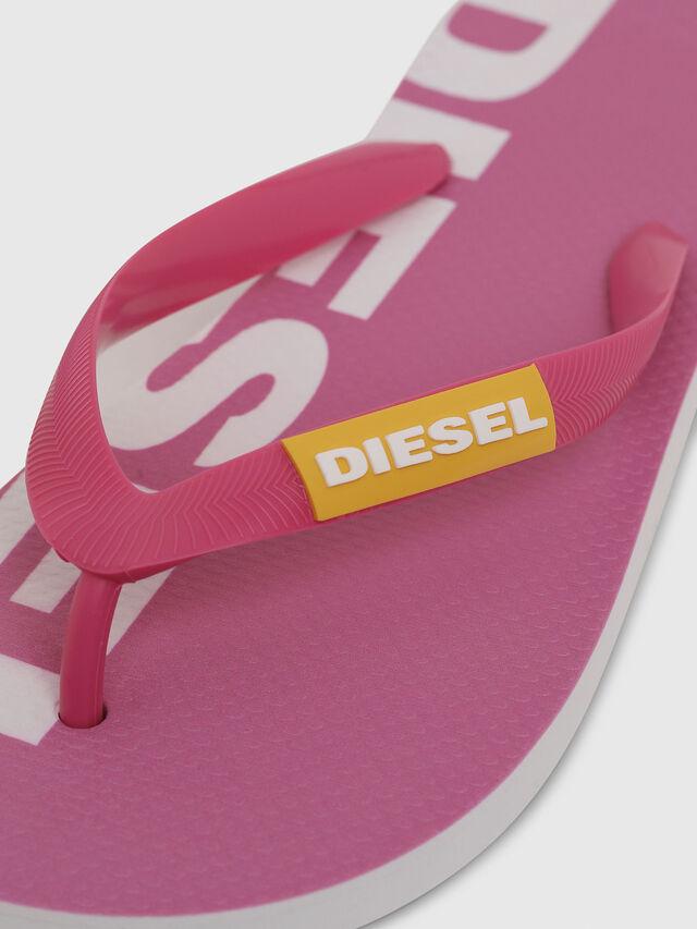 Diesel - SA-BRIIAN W, Pink/White - Slippers - Image 3