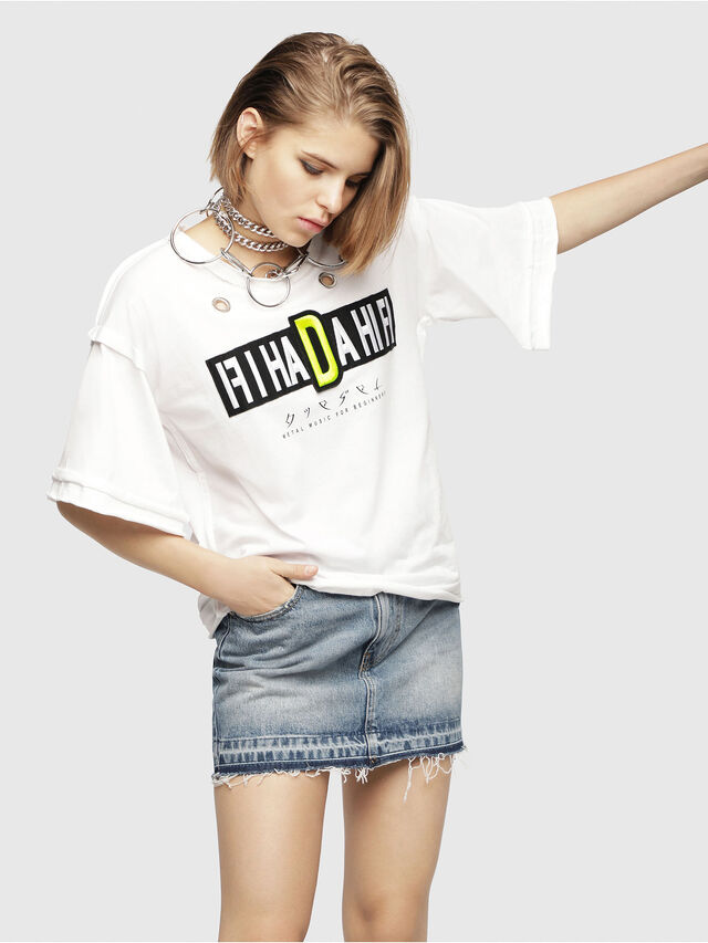 Diesel - T-JACKY-C, White - T-Shirts - Image 1