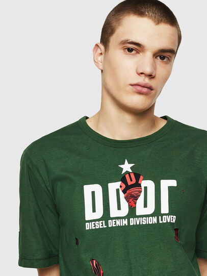 Diesel - T-JUST-LAY, Green - T-Shirts - Image 3