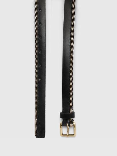 Diesel - B-ZIPPER, Black - Belts - Image 3