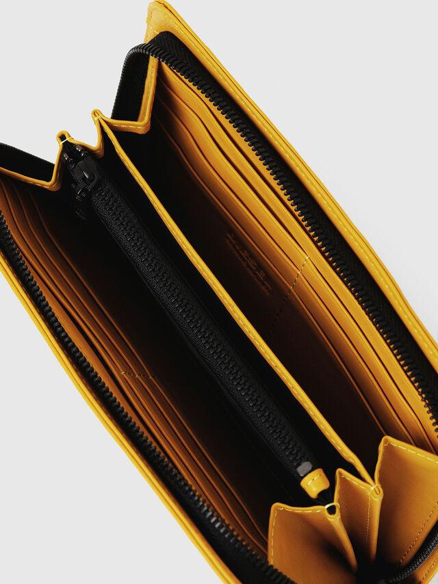 Diesel - NEW GRANATO LOOP, Yellow - Zip-Round Wallets - Image 4