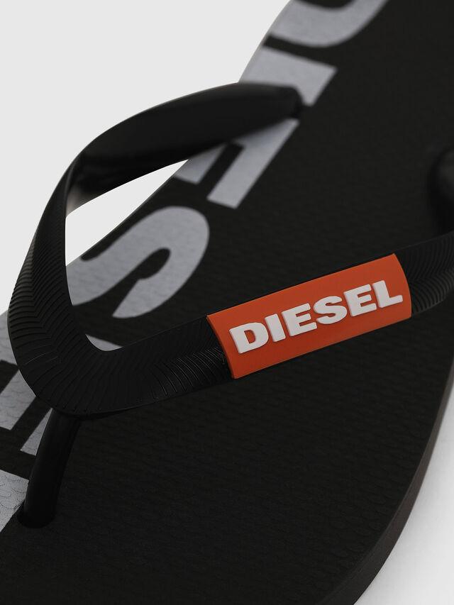Diesel - SA-BRIIAN W, Black/White - Slippers - Image 3