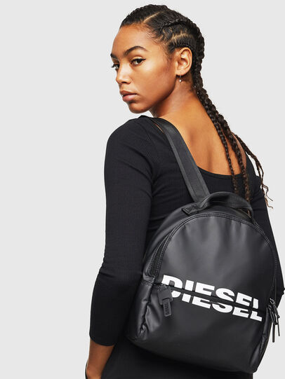 Diesel - F-BOLD BACK FL, Bright Black - Backpacks - Image 6