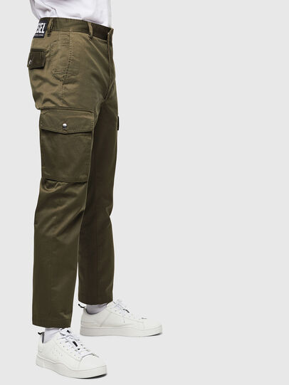 Diesel - P-JARED-CARGO, Green - Pants - Image 3