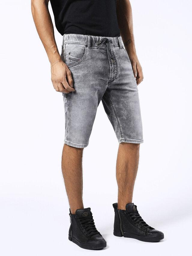 Diesel - KROSHORT JOGGJEANS, Grey Jeans - Shorts - Image 3