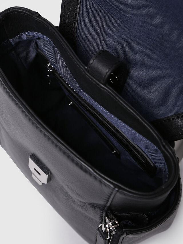 Diesel - LE-KIIMY II, Black Leather - Backpacks - Image 4