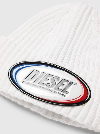 Diesel - K-DENNY, White - Knit caps - Image 3