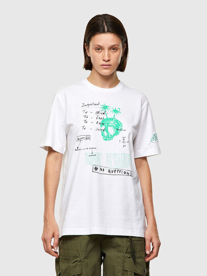 Diesel - T-JUST-B61, White - T-Shirts - Image 2