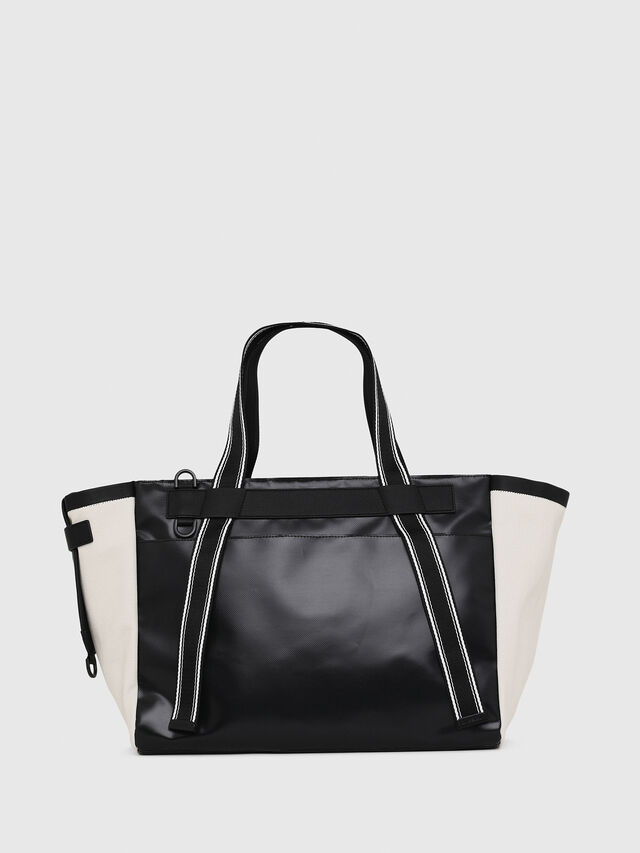 Diesel - F-CAORLY SHOPPER L, Black/White - Shopping and Shoulder Bags - Image 2