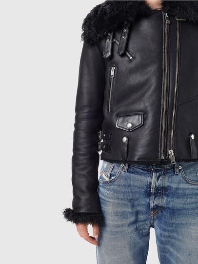 Diesel - L-MARGOT, Black - Leather jackets - Image 4